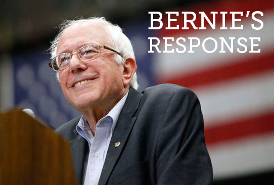 Bernie's Response